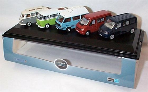 Volkswagen ( 5 Piece Set ) T1 T2 T3 T4 T5 Camper Van set 1-76 Oxford