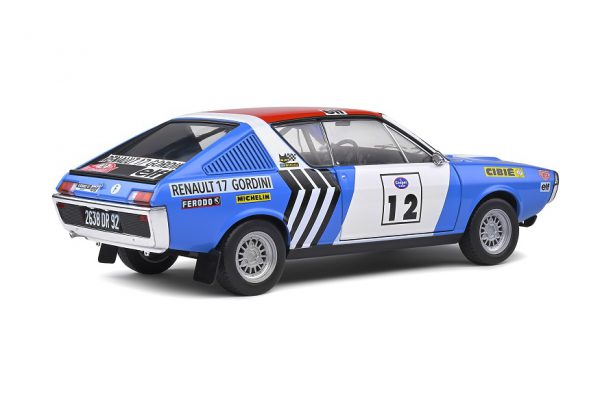 Renault 17 Gordini 1974 Rallye Press on Regardless #12 J.L.Therier 1-18 Solido