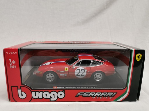 Ferrari 365 GTB4 #22 Daytona Competizione ( 1e Serie ) Rood 1-24 Burago Racing