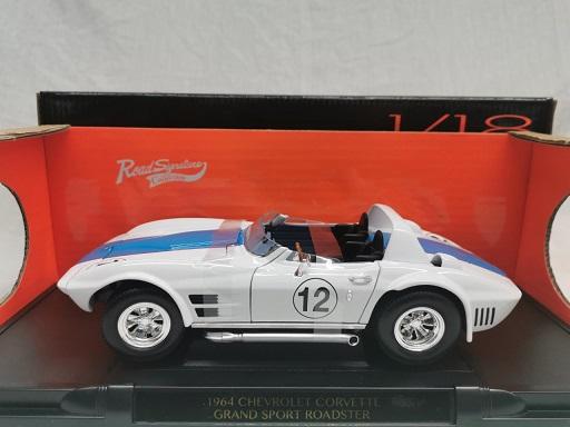 Chevrolet Corvette Grand Sport Roadster 1964 #12 Wit 1-18 Lucky Diecast