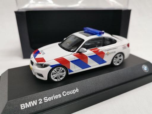 BMW 2 Series Coupe 2014 Nederlandse Politie ( New Striping ) 1-43 Minichamps