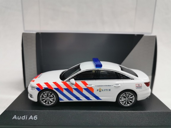 Audi A6 Limousine 2018 Nederlandse Politie ( Oude Striping ) Omgebouwd 1-43 Iscale