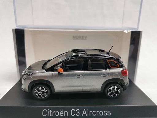 Citroen C3 Aircross 2021 Platinium Grijs / Zwart 1-43 Norev