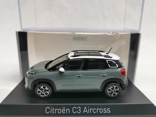 Citroen C3 Aircross 2021 Grijs / Wit 1-43 Norev