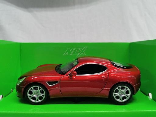 Alfa Romeo 8C Competizione 2008 Rood Metallic 1-24 Welly