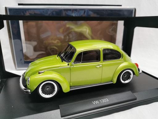 Volkswagen Kever 1303 1973 Groen Metallic ( Inkl.BBS Velgen Zwart ) 1-18 Norev