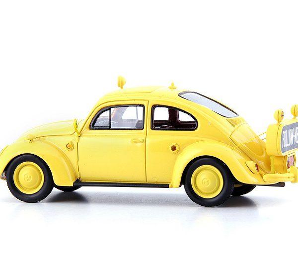 "Volkswagen Kever 1954 ""Follow-Me Berlin Tempelhof"" Geel 1/43 Autocult Limited 333 Pieces"