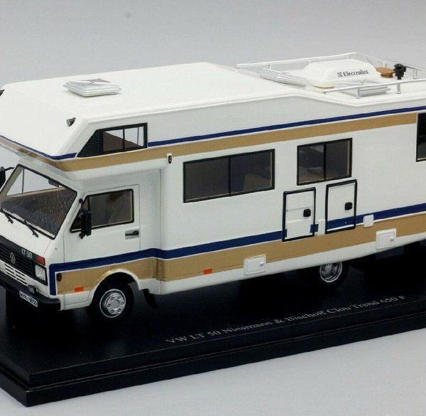 Volkswagen Camper LT 50 Niesmann & Bischoff Clou Trend 670 F Beige 1-43 Autocult Limited 333 Pieces