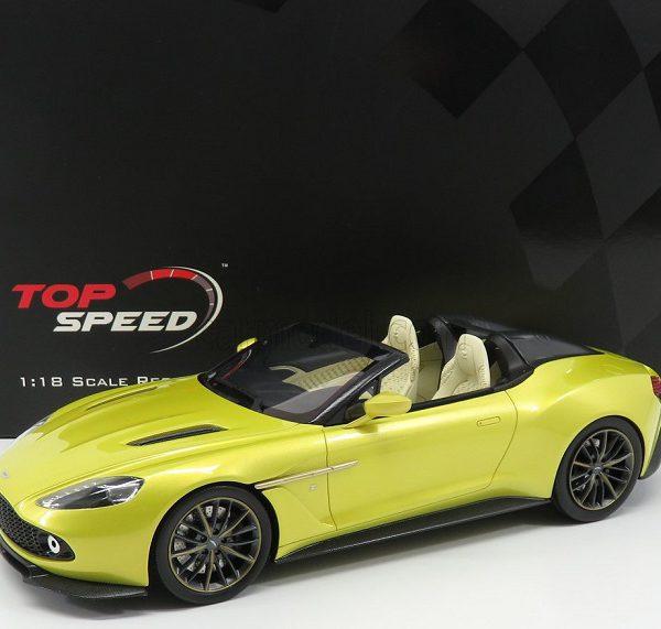 Aston Martin Vanquish Zagato Speedster 2020 Geel 1-18 Top Speed