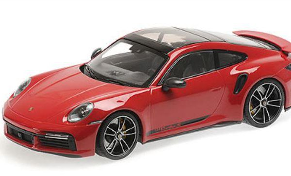 Porsche 911 Turbo S ( 992 ) 2020 Donkerrood 1-18 Minichamps Limited 302 Pieces