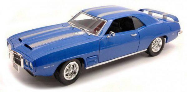 Pontiac Firebird Trans 1969 Blauw 1-18 Lucky Diecast