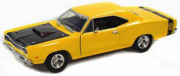 Dodge Coronet Superbee 1969 Geel / Zwart 1-24 Motormax