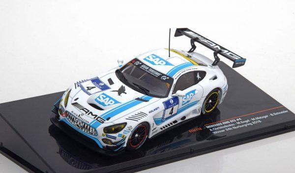 Mercedes-Benz AMG GT3 Winner 24Hrs Nürburgring 2016 Christodolou/Engel/Metzger/Schneider 1-43 Ixo Models