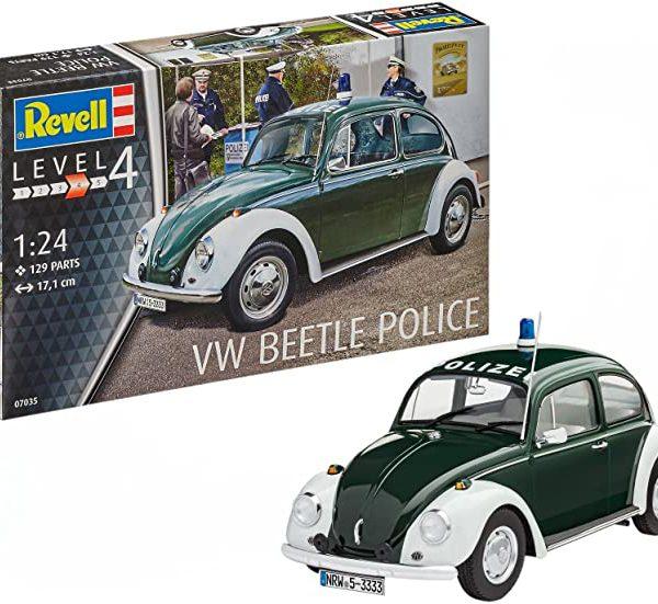 Volkswagen VW Beetle Police Plastic Kit 1:24 Model 07035 REVELL