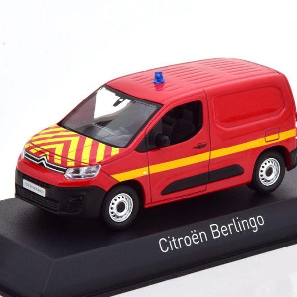 """Citroen Berlingo Van 2018 """"Pompiers"""" Rood 1-43 Norev"""