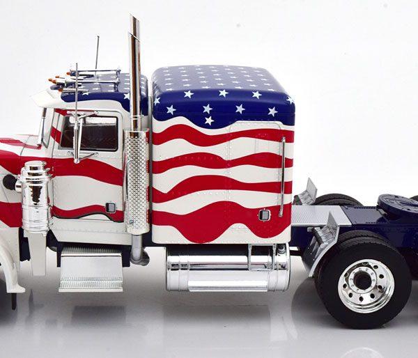 "Peterbilt 359 1967 ""Stars & Stripes"" Wit / Rood / Blauw 1-18 Road Kings Limited 500 Pieces"