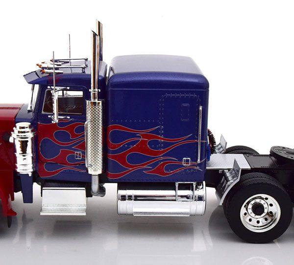 Peterbilt 359 1967 Blauw Metallic / Rood 1-18 Road Kings Limited 500 Pieces