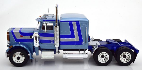 Peterbilt 359 1967 Blauw Metallic / Blauw / Zilver 1-18 Road Kings Limited 500 Pieces