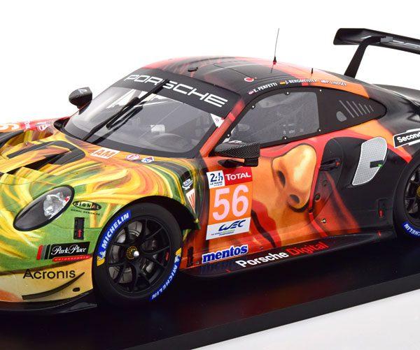 Porsche 911 GT3 RSR No.56, Winner LM GTE Am Class 24Hrs Le Mans 2019 Bergmeister/Lindsey/Perfetti 1-12 Spark ( Resin )