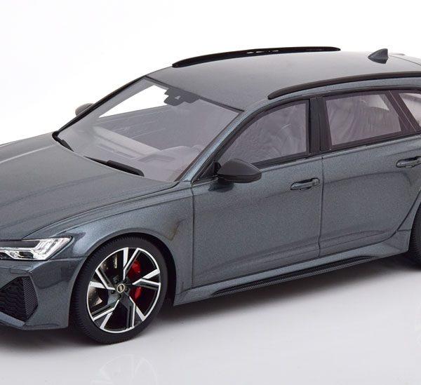 Audi RS6 Avant Carbon Black Edition Daytona Grey 1-18 Top Speed ( Resin )