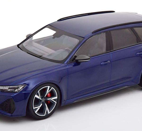 Audi RS6 Avant 2019 Blauw Metallic 1-18 Minichamps limited 402 Pieces