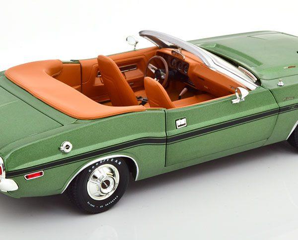 Dodge Challenger R/T Convertible 1970 Groen Metallic 1-18 Greenlight Collectibles