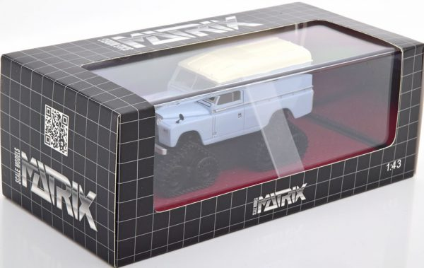 Land Rover Series II Cuthbertson Conversion 1958 Wit / Grijs 1-43 Matrix Scale Models Limited 408 Pieces