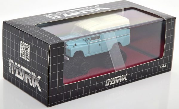 Land Rover Series II Cuthbertson Conversion 1958 Turquoise / Wit 1-43 Matrix Scale Models Limited 408 Pieces