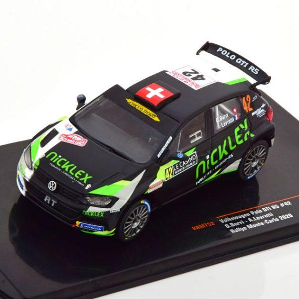 Volkswagen Polo GTI R5 No.42, Rally Monte Carlo 2020 Burri/Levratti 1-43 Ixo Models