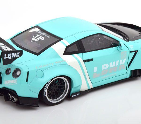 """Nissan GTR R35 """"LB Works"""" Mint / Wit / Carbon 1-18 Solido"""