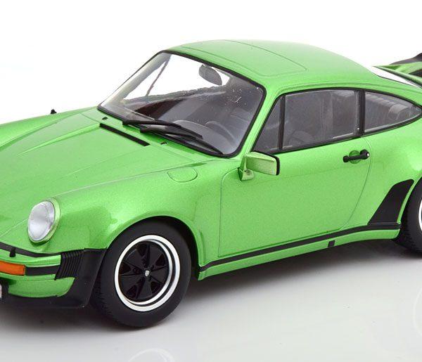Porsche 911 (930) Turbo 3.0 1976 Groen Metallic 1-18 KK Scale