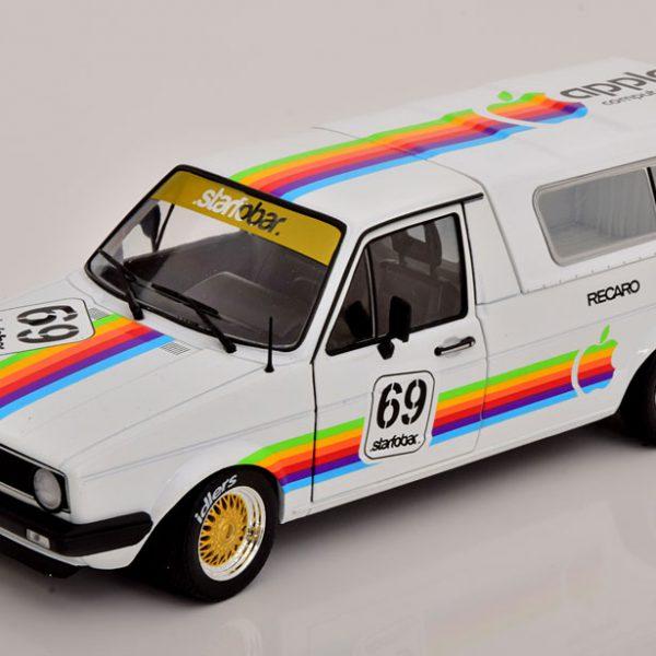 "Volkswagen Caddy MK1 ""Apple Computer"" 1982 Wit 1-18 Solido"