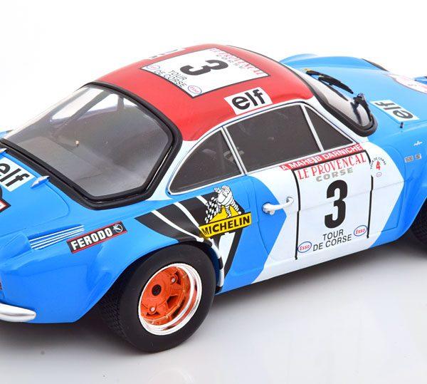 Renault Alpine A110 No.3, Tour de Corse 1973 Darniche/Mahe 1-18 Ixo Models