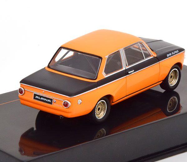 BMW Alpina 2002 Tii 1972 Oranje / Zwart 1-43 Ixo Models