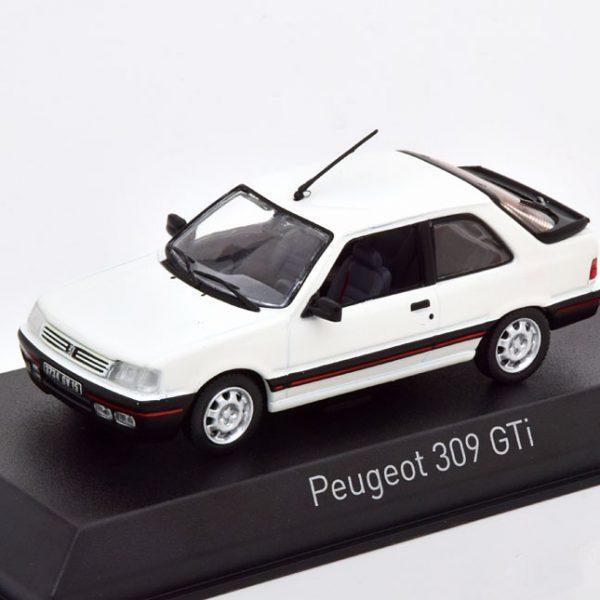 Peugeot 309 GTI 1987 Wit 1-43 Norev