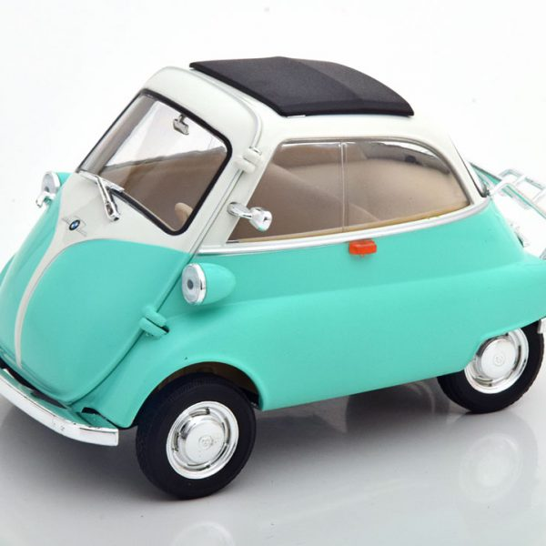 BMW Isetta 1959 Turquoise / Wit 1-18 Welly