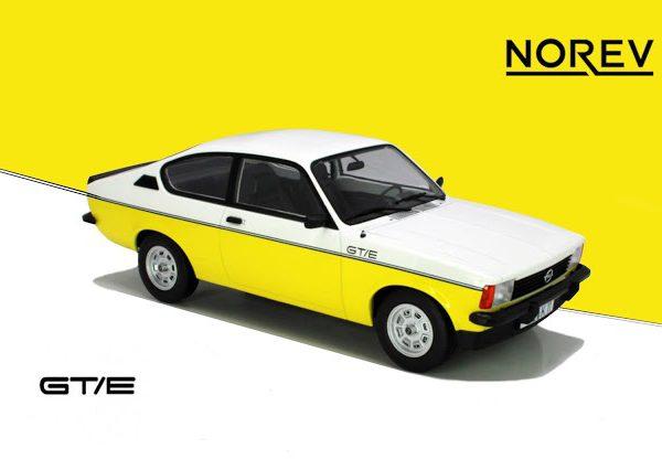Opel Kadett GT/E 1977 White & Yellow 1-18 Norev