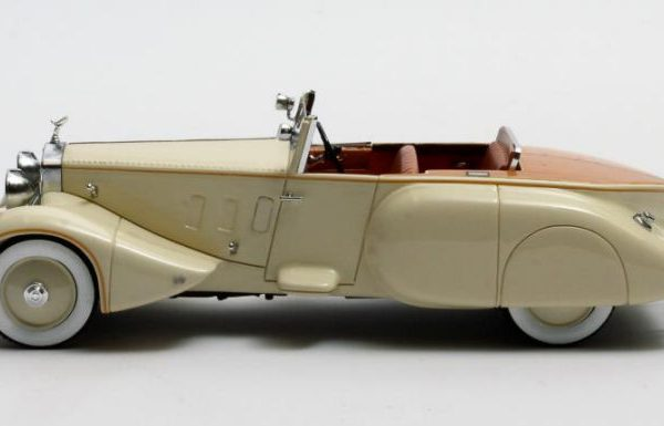Rolls Roys Phantom II Barker Boattail HRH Maharaja of Rewa #179XJ 1930 Creme 1-43 Matrix Scale Models Limited 408 pcs.