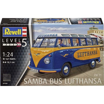 "Volkswagen T1 Samba Bus ""Lufthansa"" Auto Bouwdoos 1:24 Revell"