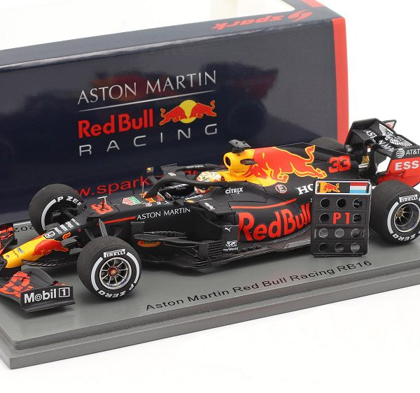 Aston Martin Red Bull Racing RB16 Winner 70th Anniversary Silverstone 2020 Max Verstappen 1:43 Spark