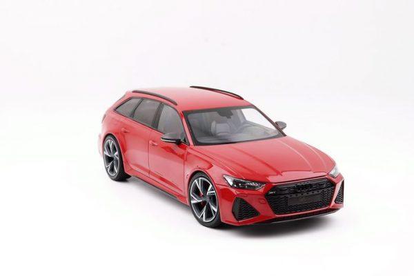 Audi RS6 Avant 2019 Rood Metallic 1-18 Minichamps Limited 300 Pieces