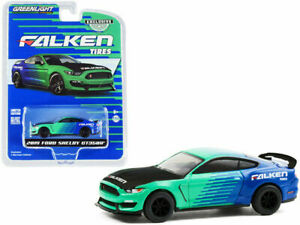 Ford Shelby GT350R 2019 Groen/Blauw 1-64 Greenlight Collectibles