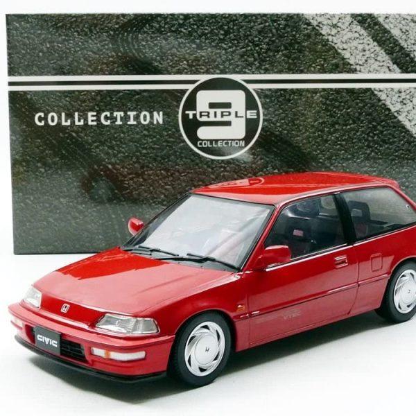 Honda Civic EF-3 1990 1-18 Rood Triple 9 Collection