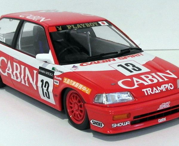 Honda Civic EF3 #13 TEAM CABIN Macau GP 1988 1-18 Rood/Wit Triple 9 Collection