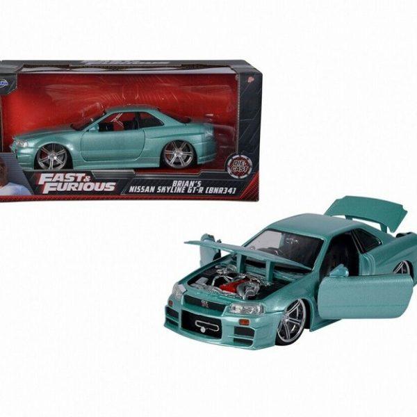 "Nissan Skyline GT-R34 1999 Brian's ""Fast & Furious"" Lichtgroen Metallic 1:24 Jada Toys"