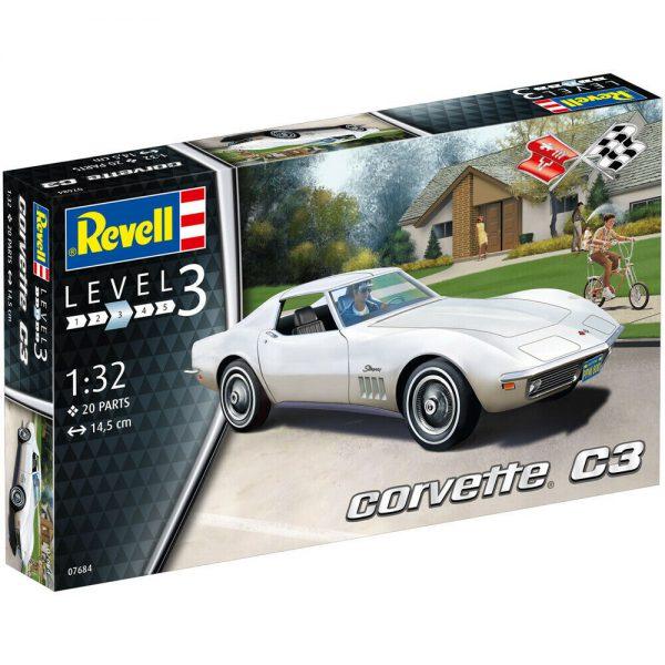 Chevrolet Corvette C3 Stingray Plastic Model Kit 1-32 Revell