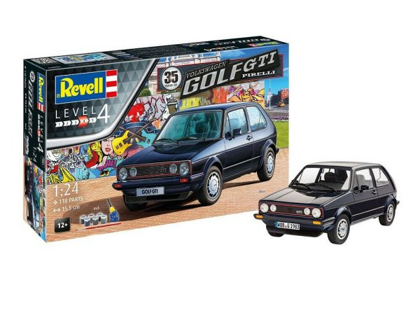 Volkswagen Golf 1 GTi Pirelli ( 35 Years ) Complete Set - New 1-24 Revell