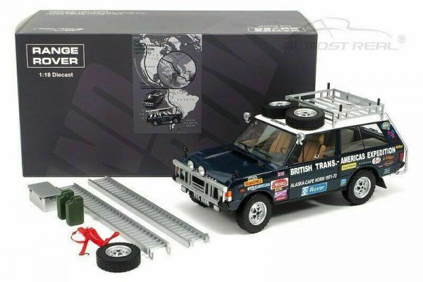 """Range Rover """"The British Trans-Americas Expedition"""" Edition 1971-1972 ( 868K ) Blauw 1-18 Almost Real"""