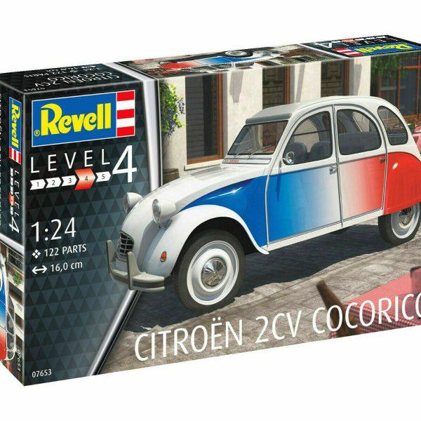 Citroen 2 CV Cocorico Plastic Model Construction Set 1:24 New Revell