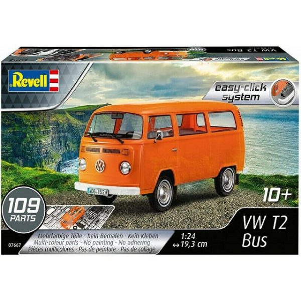 "Volkswagen T2 Bus ""Easy-Click System"" Oranje 1-24 Revell"